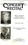 Concert Recital Program by Lloyd Alexander