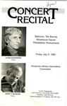 Concert Recital Program