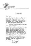 June 8, 1990 Letter by Lloyd Alexander