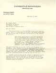 February 4, 1969 Letter by Herbert Howarth