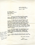 April 7, 1969 Letter by Herbert Howarth