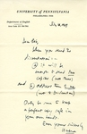 July 10, 1969 Letter by Herbert Howarth