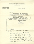 October 18, 1969 Letter by Herbert Howarth