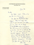 October 24, 1969 Letter by Herbert Howarth
