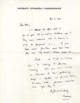 December 3, 1969 Letter by Herbert Howarth