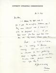 December 3, 1969 Letter