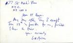 W. H. Auden Postcard by W. H. Auden