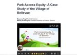 Park Access Equity: A Case Study of the Village of Bellevue