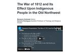 The War of 1812 and Its Effect Upon Indigenous People in the Old Northwest