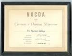Membership Certificate For Mel Nicks