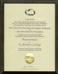 St. Norbert College Education Award