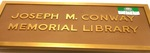 Joseph M. Conway Memorial Library Plaque