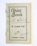 Rule Book From St. Joseph Hall, Columbia College, Dubuque, IA