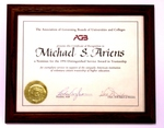 Framed Certificate of Recognition to Michael S. Ariens