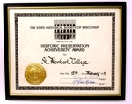 The Historic Preservation Achievement Award