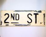 2nd Street Sign