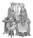Medieval King Invests a Bishop with Symbols of his Episcopate