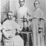 Bernard H. Pennings with Lambert J. Broens and Brother Servatius in 1893