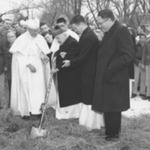 Abbot Pennings at Hall of Fine Arts Groundbreaking