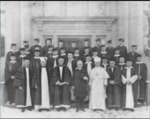 Abbot Pennings and 1927 Staff