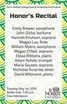 Honors Recital 2018