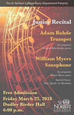 Junior Recital - William Myers and Adam Rohde