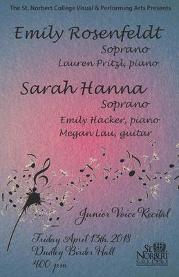 Junior Recital - Emily Rosenfeldt and Sarah Hanna