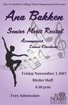 Senior Merit Recital - Ana Bakken