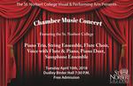 Chamber Music Concert Spring 2018