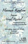 Senior Recital - Hannah Knutson