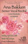 Senior Recital - Ana Bakken