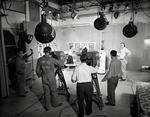 WBAY-TV studio floor by WBAY-TV