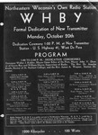 WHBY's dedication of a new transmitter station by St. Norbert Abbey