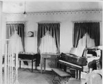 WHBY interior with record players and piano by St. Norbert Abbey