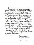 Handwritten Tolkien Letter