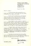J. R. R. Tolkien Typed Letter