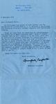 Humphrey Carpenter Typed Letter by Humphrey Carpenter